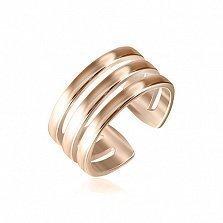 Серебряное кольцо на фалангу Искусство стиля с позолотой