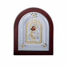 Икона серебряная с позолотой Божья Матерь Владимирская