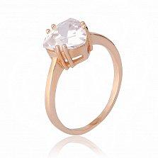 Позолоченное серебряное кольцо Эванджелин с фианитами