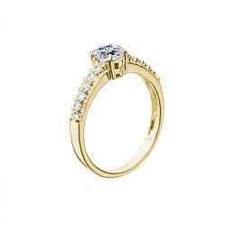 Кольцо в желтом золоте Исабель с бриллиантами