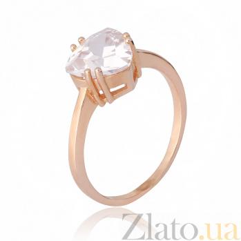 Позолоченное серебряное кольцо Эванджелин с фианитами 000028407