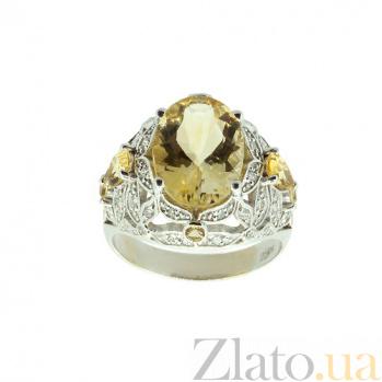 Золотое кольцо с бриллиантами и цитрином Elixir ZMX--RDCt-00395w