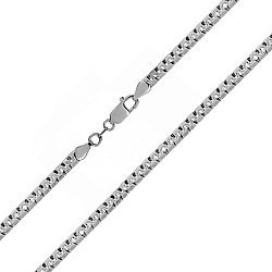 Серебряная цепь Аликанте с чернением, 4 мм