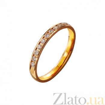 Золотое обручальное кольцо с фианитами  Анастасия TRF--4121125