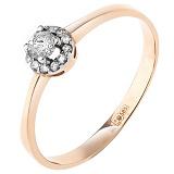 Золотое кольцо Небесный ореол с бриллиантами
