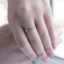 Золотое кольцо Одри с бриллиантами и сапфирами