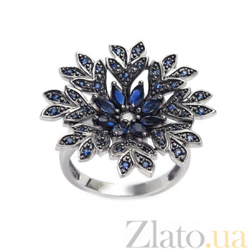 Золотое кольцо с бриллиантами и сапфирами Camilla ZMX--RDS-00159w