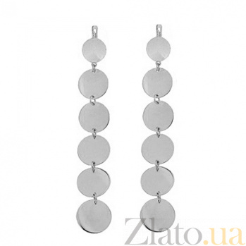 Серебряные серьги Семирамида TNG--400065С