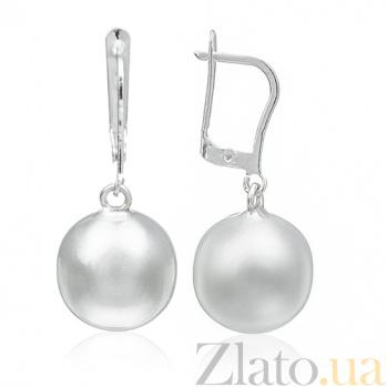 Серебряные серьги Утонченность 10030152