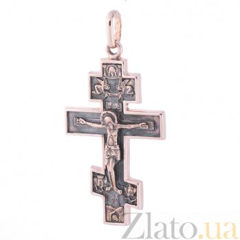 Золотой крест с чернением Воскрешение ONX--п01213
