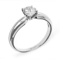Кольцо из белого золота с бриллиантом Eleanor