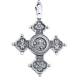 Серебряный крестик Блаженство чернёный 000006441
