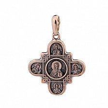 Золотой крестик С верой в сердце