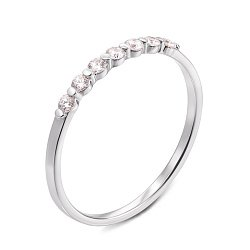 Кольцо из белого золота с бриллиантами 000131371