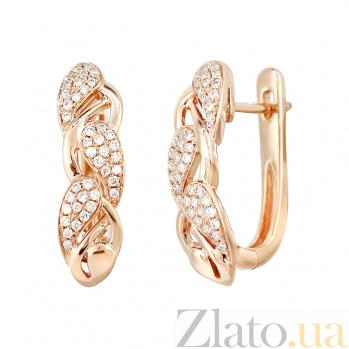 Золотые серьги с бриллиантами Летняя фантазия 000029309