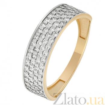 Золотое кольцо с фианитами Роковая красотка 000023446