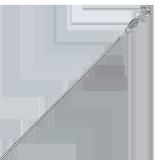 Серебряная цепочка Веста в плетении снейк, 1,6мм