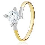 Золотое кольцо с кристаллом Swarovski Джудит