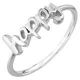 Серебряное кольцо Happy