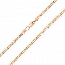 Золотая цепочка Ямайка в красном цвете в плетении арабский бисмарк