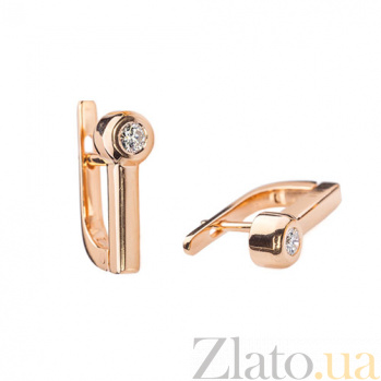 Золотые серьги Noor с бриллиантами 000045336