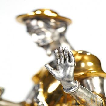 Серебряная статуэтка Дон Кихот с книгой 285/кихот