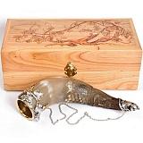 Серебряная композиция Рог с виноградом
