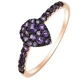 Кольцо из красного золота с аметистами Violet passion