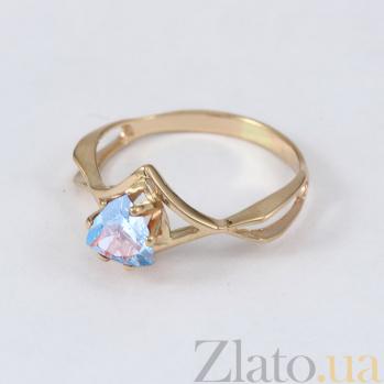 Золотое кольцо с голубым топазом Филадельфия VLN--112-1139-1