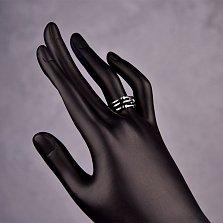 Серебряное кольцо Милые сердечки