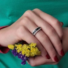 Кольцо из белого золота Луиза с сапфирами и бриллиантами