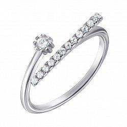 Серебряное кольцо с фианитами 000127143