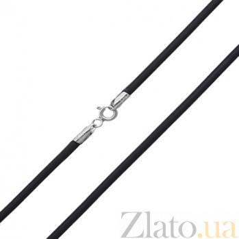 Шнурок из каучука с серебряной застежкой Аристодем, 3 мм 10210000