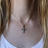 Серебряный крест Вечный Поводырь с позолотой и чернением