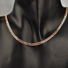 Золотая цепь Статус плетения двойной ромб с алмазной гранью, 4мм