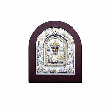 Серебряная икона с позолотой Николай Чудотворец