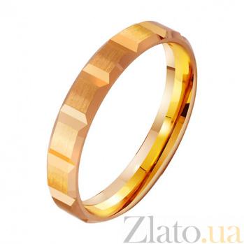 Золотое обручальное кольцо Богатство TRF--411859