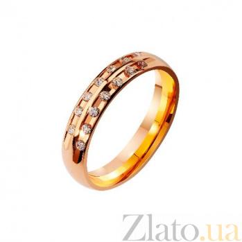 Золотое обручальное кольцо с фианитами Мечта невесты TRF--4121212