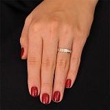 Золотое обручальное кольцо Сияние любви
