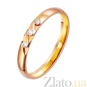 Золотое обручальное кольцо Sweet с фианитами TRF--412755
