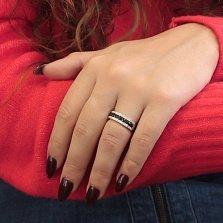 Кольцо Злата из белого золота с бриллиантами и сапфирами