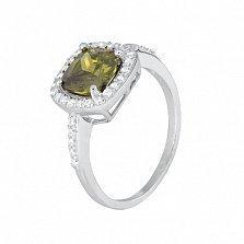 Серебряное кольцо с цирконием Франтиска