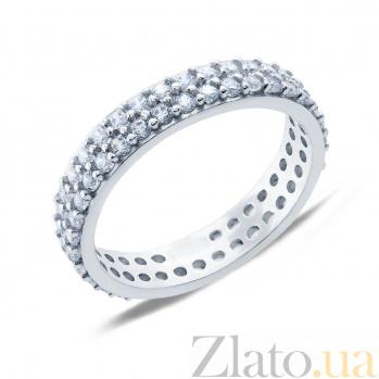 Серебряное кольцо с фианитами Летисия AQA--1755