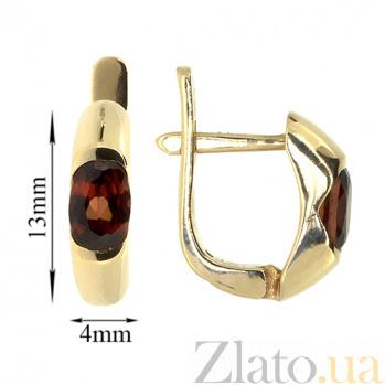 Золотые серьги с гранатами Зафира ZMX--EGn-6035_K