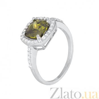 Серебряное кольцо с цирконием Франтиска 000028378