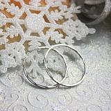 Серебряные серьги-конго Магический круг с алмазной гранью, 3см