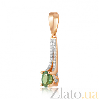 Золотой подвес с изумрудом и бриллиантами Элейн EDM-П7533СМАРАГД