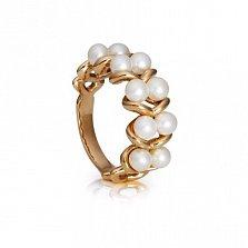 Золотое кольцо Алеся с жемчугом