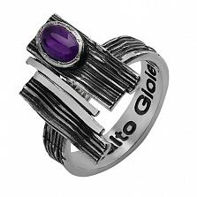Серебряное чернёное кольцо с аметистом Либертина