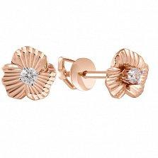 Серьги-пуссеты с бриллиантами Лилия